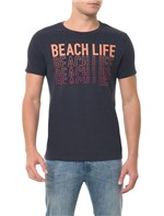 Camiseta CKJ MC Estampa Beach Life Azul Escuro Camiseta Ckj Mc Estampa Beach Life - Azul Escuro - P