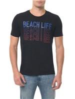 Camiseta CKJ MC Estampa Beach Life Preta Camiseta Ckj Mc Estampa Beach Life - Preto - G