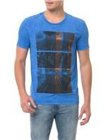 Camiseta CKJ MC Estampa Cidade Azul CAMISETA CKJ MC ESTAMPA CIDADE - AZUL - GG