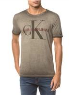 Camiseta Ckj Mc Estampa Ck Peito - Oliva - M