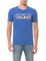 Camiseta CKJ MC Estampa Island Azul CAMISETA CKJ MC ESTAMPA ISLAND - AZUL - PP