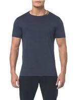 Camiseta Ckj Mc Estampa Logo Gola - Cinza Azulado - PP