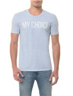 Camiseta CKJ MC Estampa My Choice Azul Claro CAMISETA CKJ MC ESTAMPA MY CHOICE - AZUL CLARO - G