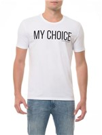 Camiseta CKJ MC Estampa My Choice Branca CAMISETA CKJ MC ESTAMPA MY CHOICE - BRANCO 2 - GG