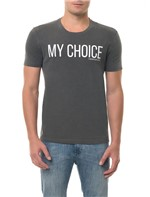 Camiseta CKJ MC Estampa My Choice Preta CAMISETA CKJ MC ESTAMPA MY CHOICE - PRETO - P