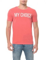 Camiseta CKJ MC Estampa My Choice Vermelha CAMISETA CKJ MC ESTAMPA MY CHOICE - VERMELHO - P
