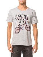 Camiseta Ckj Mc Estampa Racing Culture - Mescla - M
