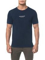 Camiseta Ckj Mc Indigo Logo Cenro Peito - Indigo - PP