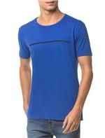Camiseta Ckj Mc Logo Palito - Azul Médio - PP