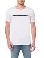 Camiseta Ckj Mc Logo Palito Branco 2 Camiseta Ckj Mc Logo Palito - Branco 2 - PP