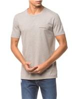 Camiseta Ckj Mc Logo Peito - Mescla - GG