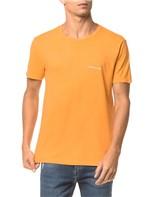 Camiseta Ckj Mc Logo Peito - Mostarda - PP