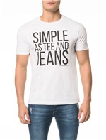Camiseta CKJ MC Simple as Tee And Jeans - P