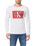 Camiseta Ckj Ml Est Quadrado Logo - Branco 2 - PP