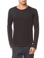 Camiseta Ckj Ml Etiqueta Barra - Preto - G