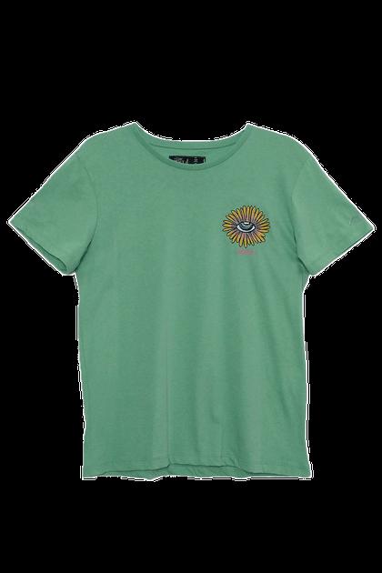 Camiseta Colcci Bordada Girassol - Verde
