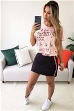 Camiseta Colcci Estampada Palmistry Rock - Rosa