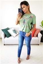 Camiseta Colcci Estampada Shock Green Cosmic - Verde