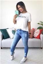 Camiseta Colcci Estampada Simplicity - Branco