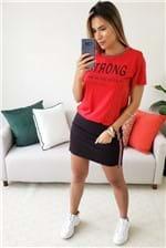 Camiseta Colcci Estampada Strong - Vermelho