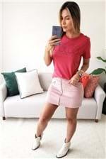 Camiseta Colcci Estampada Vibes - Rosa