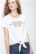 Camiseta com Amarração Feminina