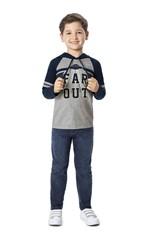 Camiseta com Capuz Menino Malwee Kids Azul Escuro - 1
