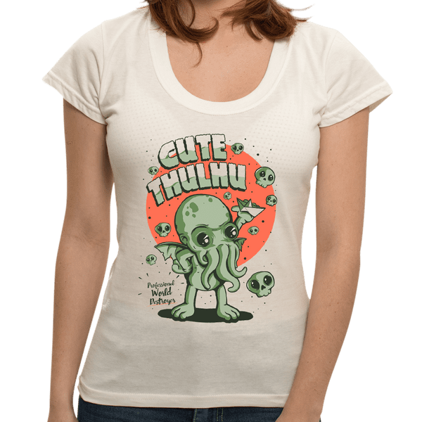 Camiseta Cute Cthulhu - Feminina - P