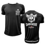 Camiseta Darkness Nation Preta Caveira - IntegralMedica