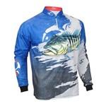Camiseta de Pesca Faca na Rede Evo Tucunare Azul 18/19 G