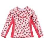 Camiseta de Praia Cereja Lilica Ripilica Baby Vermelha