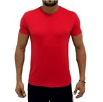 Camiseta Dry Fit Logo Back Vermelha
