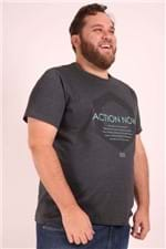 Camiseta Estampa Action Now Plus Size Preto M