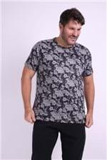 Camiseta Estampa Caveira Plus Size Preto GG