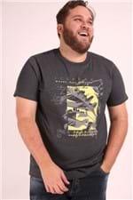 Camiseta Estampa Folhas Plus Size Preto G