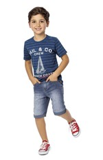 Camiseta Estampa Relevo Menino Malwee Kids Azul - 1