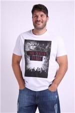 Camiseta Estampa Take Center Stage Plus Size Branco G