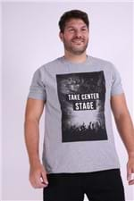 Camiseta Estampa Take Center Stage Plus Size Cinza M