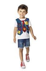 Camiseta Estampada Menino Malwee Kids Off White -1