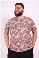 Camiseta Estampada Plus Size Laranja EX