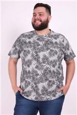 Camiseta Estampada Plus Size Preto EX