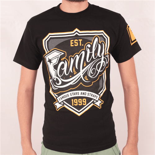 Camiseta Famous Champs Preto P