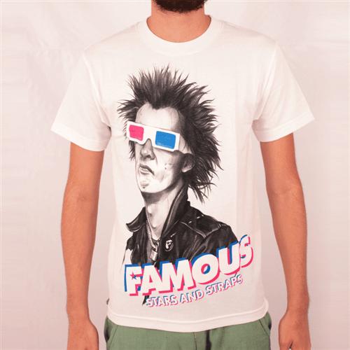 Camiseta Famous 3d Spike Branco P