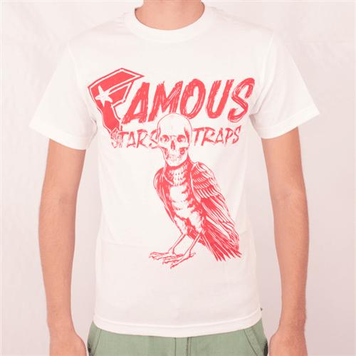 Camiseta Famous Death Crow Branco P