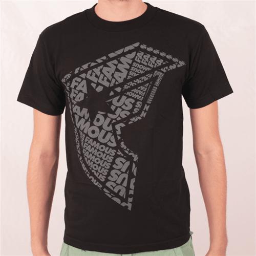 Camiseta Famous Famtype Preto P