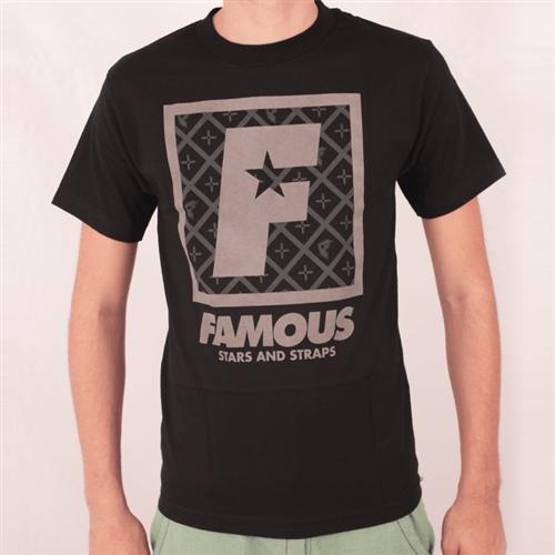 Camiseta Famous Flat Saints Preto P