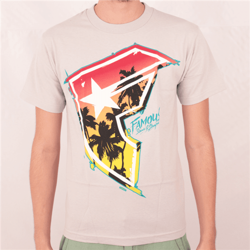 Camiseta Famous Palmy Days Cinza P