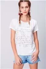 Camiseta Feminina Malha Flamê Estampada