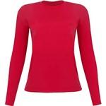 Camiseta Feminina Manga Longa Silver Fresh - Vermelho - Curtlo