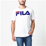 CAMISETA FILA LETTER MASCULINA - Branco/Royal - Compre Agora   Radan Esportes